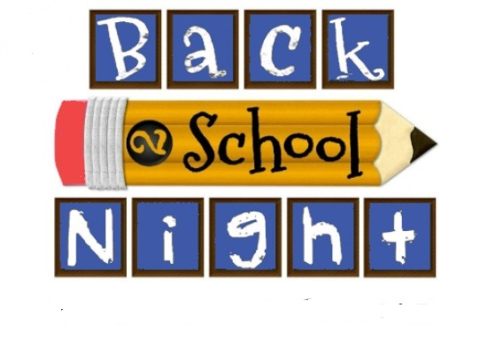 Back to School Night - September 20th